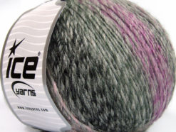 Lot of 4 x 100gr Skeins Ice Yarns ROSETO WORSTED (30% Wool) Yarn Grey Shades Lilac Shades