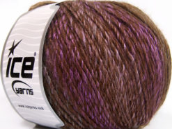 Lot of 4 x 100gr Skeins Ice Yarns ROSETO WORSTED (30% Wool) Yarn Brown Shades Lilac