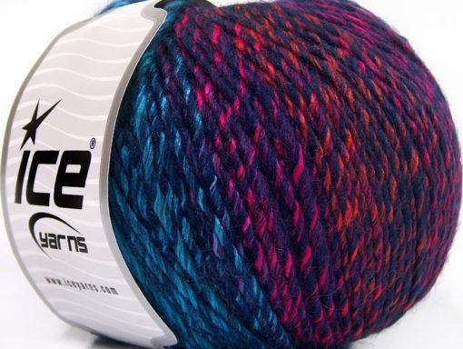 Lot of 4 x 100gr Skeins Ice Yarns ROSETO WORSTED (30% Wool) Yarn Navy Turquoise Pink Orange