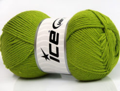Lot of 4 x 100gr Skeins Ice Yarns BABY SOFTY Hand Knitting Yarn Green