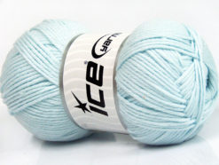 Lot of 4 x 100gr Skeins Ice Yarns BABY SOFTY Hand Knitting Yarn Light Blue