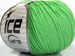 Lot of 8 Skeins Ice Yarns BABY SUMMER (60% Cotton) Yarn Light Green