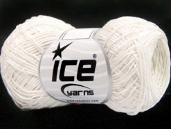 Lot of 8 Skeins Ice Yarns URBAN COTTON LUX (60% Cotton 28% Viscose) Yarn White
