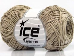 Lot of 8 Skeins Ice Yarns URBAN COTTON LUX (60% Cotton 28% Viscose) Yarn Camel