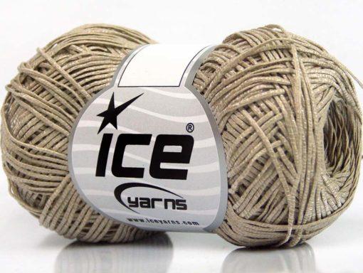 Lot of 8 Skeins Ice Yarns URBAN COTTON LUX (60% Cotton 28% Viscose) Yarn Camel