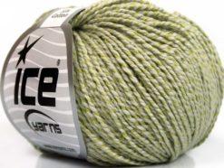 Lot of 4 Skeins Ice Yarns SILK COTTON (32% Silk 68% Cotton) Yarn Light Khaki