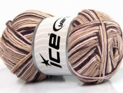 Lot of 4 x 100gr Skeins Ice Yarns NATURAL COTTON COLOR (100% Cotton) Yarn Beige Light Pink Maroon