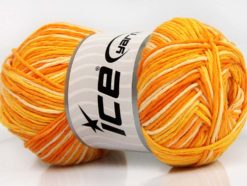 Lot of 4 x 100gr Skeins Ice Yarns NATURAL COTTON COLOR (100% Cotton) Yarn Gold Shades Cream