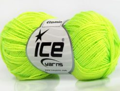 Lot of 10 Skeins Ice Yarns ETAMIN Hand Knitting Yarn Neon Yellow