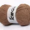 Lot of 4 x 100gr Skeins Ice Yarns LORENA SUPERFINE (55% Cotton) Yarn Camel