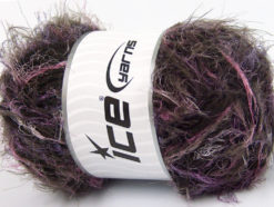 Lot of 4 x 100gr Skeins Ice Yarns TECHNO WOOL SUPERBULKY (30% Wool) Yarn Pink Lilac Brown