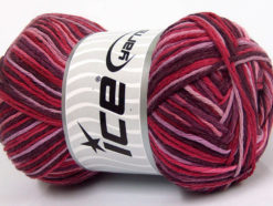 Lot of 4 x 100gr Skeins Ice Yarns NATURAL COTTON COLOR (100% Cotton) Yarn Maroon Pink Shades Lilac