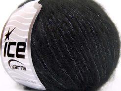 Lot of 8 Skeins Ice Yarns ROCK STAR METALLIC (25% Wool) Yarn Black