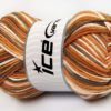 Lot of 2 x 200gr Skeins Ice Yarns NATURAL COTTON COLOR WORSTED (100% Cotton) Yarn Brown Camel White