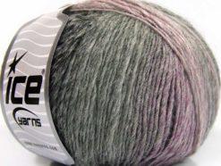 Lot of 8 Skeins Ice Yarns ROSETO (30% Wool) Hand Knitting Yarn Grey Shades Pink