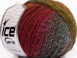 Lot of 8 Skeins Ice Yarns ROSETO (30% Wool) Yarn Fuchsia Gold Brown Blue Green