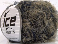 Lot of 8 Skeins Ice Yarns SALE EYELASH Hand Knitting Yarn Camel Navy