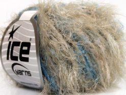 Lot of 8 Skeins Ice Yarns TECHNO PUFFY Yarn Camel Blue Black White