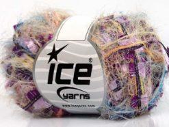 Lot of 8 Skeins Ice Yarns TECHNO QUINTE Yarn Salmon Lilac Fuschia Black Blue