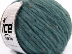 Lot of 8 Skeins Ice Yarns SOFTAIR TWEED (4% Viscose) Yarn Dark Turquoise