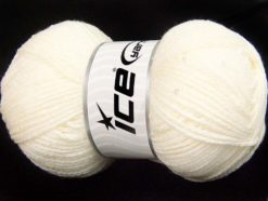 Lot of 4 x 100gr Skeins Ice Yarns CHAIN PAILLETTE (2% Paillette) Yarn Ecru