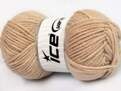 Lot of 4 x 100gr Skeins Ice Yarns CHAIN PAILLETTE (2% Paillette) Yarn Beige