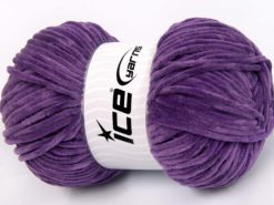 Lot of 4 x 100gr Skeins Ice Yarns CHENILLE BABY LIGHT (100% MicroFiber) Yarn Lavender