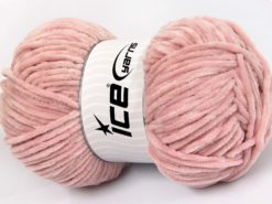 Lot of 4 x 100gr Skeins Ice Yarns CHENILLE BABY LIGHT (100% MicroFiber) Yarn Powder Pink