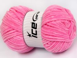 Lot of 4 x 100gr Skeins Ice Yarns CHENILLE BABY LIGHT (100% MicroFiber) Yarn Baby Pink