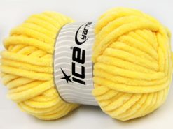 Lot of 2 x 200gr Skeins Ice Yarns CHENILLE SUPERBULKY (100% MicroFiber) Yarn Yellow