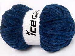 Lot of 2 x 200gr Skeins Ice Yarns CHENILLE SUPERBULKY (100% MicroFiber) Yarn Navy