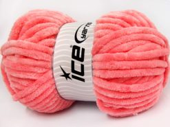 Lot of 2 x 200gr Skeins Ice Yarns CHENILLE SUPERBULKY (100% MicroFiber) Yarn Salmon