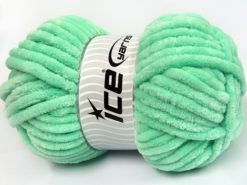 Lot of 2 x 200gr Skeins Ice Yarns CHENILLE SUPERBULKY (100% MicroFiber) Yarn Light Green