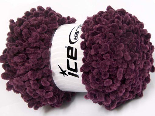 Lot of 4 x 100gr Skeins Ice Yarns CHENILLE LOOP (100% MicroFiber) Yarn Maroon