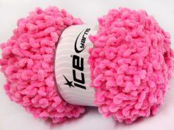 Lot of 4 x 100gr Skeins Ice Yarns CHENILLE LOOP (100% MicroFiber) Yarn Pink