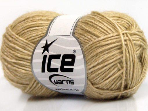 Lot of 8 Skeins Ice Yarns DENIM (80% Cotton) Hand Knitting Yarn Beige