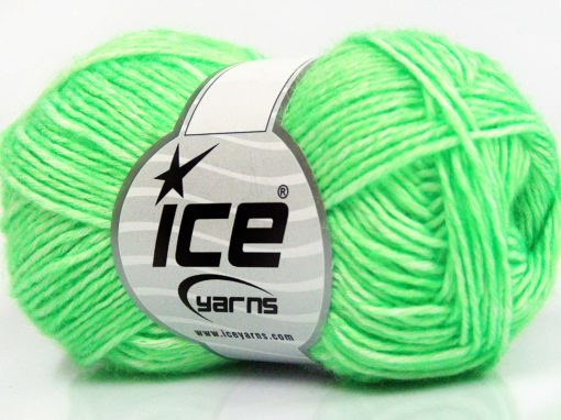 Lot of 8 Skeins Ice Yarns DENIM (80% Cotton) Hand Knitting Yarn Neon Green