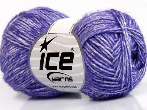 Lot of 8 Skeins Ice Yarns DENIM (80% Cotton) Hand Knitting Yarn Lilac