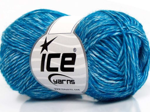 Lot of 8 Skeins Ice Yarns DENIM (80% Cotton) Hand Knitting Yarn Turquoise