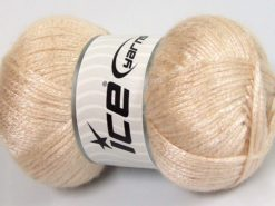 Lot of 4 x 100gr Skeins Ice Yarns UNIVERSE (19% Wool) Yarn Light Beige