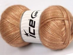 Lot of 4 x 100gr Skeins Ice Yarns UNIVERSE (19% Wool) Yarn Dark Beige