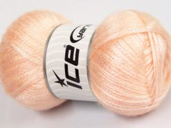 Lot of 4 x 100gr Skeins Ice Yarns UNIVERSE (19% Wool) Yarn Light Salmon