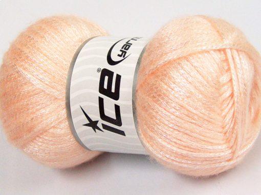 Lot of 4 x 100gr Skeins Ice Yarns UNIVERSE (19% Wool) Yarn Light Salmon