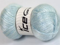 Lot of 4 x 100gr Skeins Ice Yarns UNIVERSE (19% Wool) Yarn Light Blue
