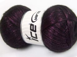 Lot of 4 x 100gr Skeins Ice Yarns UNIVERSE (19% Wool) Yarn Purple Black