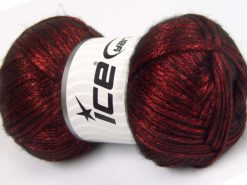 Lot of 4 x 100gr Skeins Ice Yarns UNIVERSE (19% Wool) Yarn Red Black