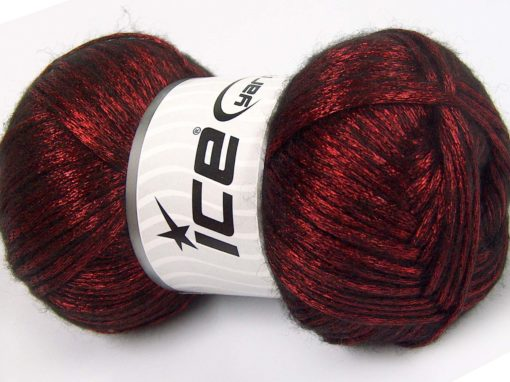 Lot of 4 x 100gr Skeins Ice Yarns UNIVERSE (19% Wool) Yarn Red Black