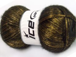 Lot of 4 x 100gr Skeins Ice Yarns UNIVERSE (19% Wool) Yarn Olive Green Black