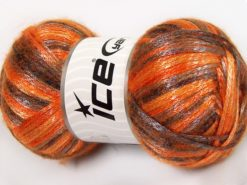 Lot of 4 x 100gr Skeins Ice Yarns UNIVERSE (19% Wool) Yarn Orange Shades Black Grey