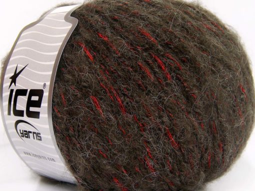 Lot of 4 x 100gr Skeins Ice Yarns ALPACA SHINE (19% Alpaca) Yarn Dark Brown Red